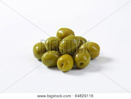 handful of fleshy green olives