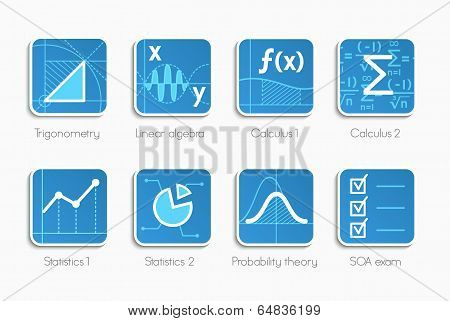 Set of math icons