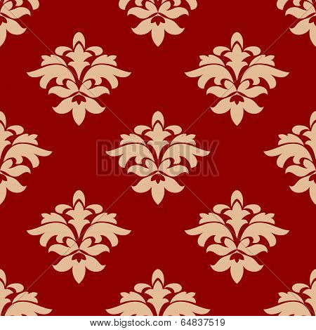 Maroon and beige seamless pattern