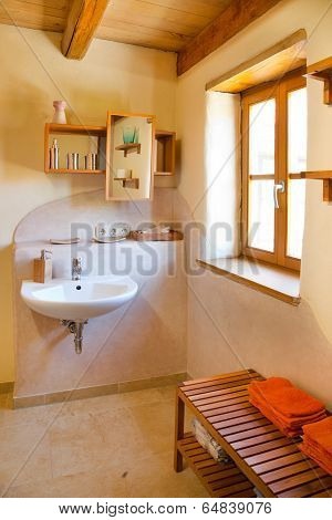 clay courtyard bathroom