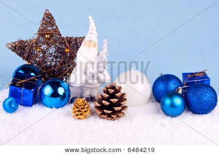 Blue Xmas Decoration