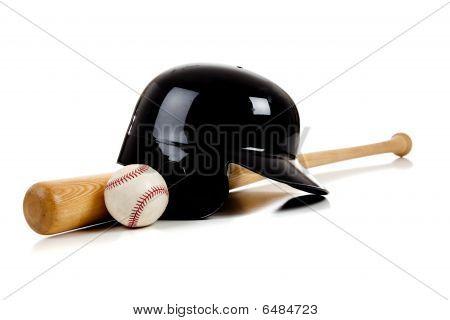 Equipo de béisbol en blanco