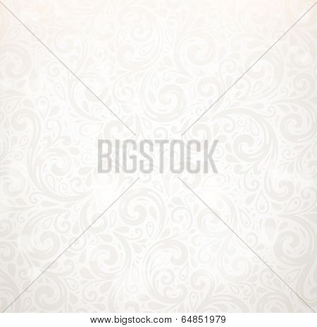 Vector Background. Floral Pattern, Wallpaper with Flowers. Vintage Silver Background.