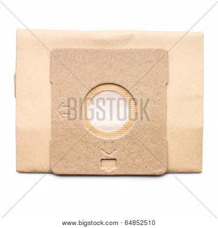 Dust Bag For Vacuum Cleaner Isolated On White Background