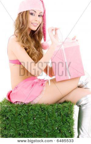 Santa Helper With Gift Box