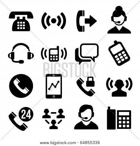 Phone and Call Center Icons Set