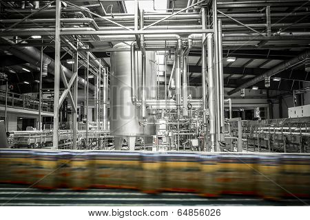 Interior Of A Modern Brewery, Equipment, Tools, Beer Can