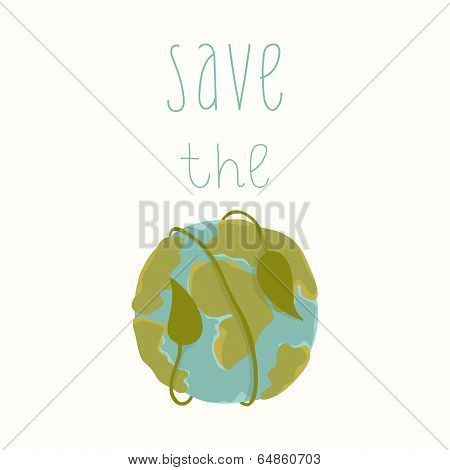 Earth day card template.