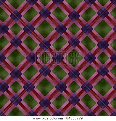 Checkered Diagonal Seamless Tartan Texture