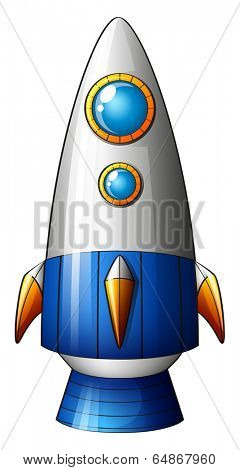 Illustration of a deadly rocket on a white background