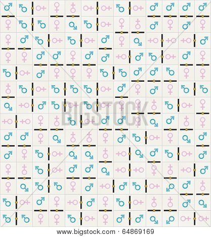 Domino Tiles Texture Man And Woman