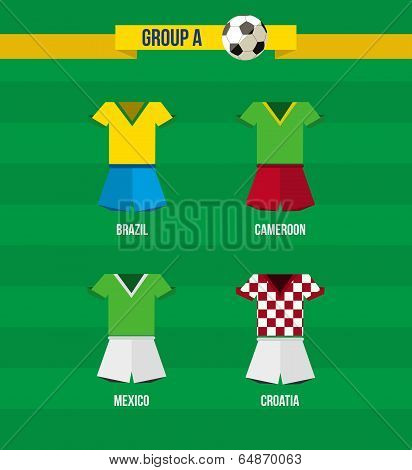 Brazil Soccer Championship 2014 Group A Team