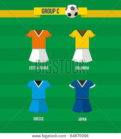 Brazil Soccer Championship 2014 Group C Team