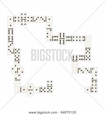 Figure Domino Chips Man And Woman
