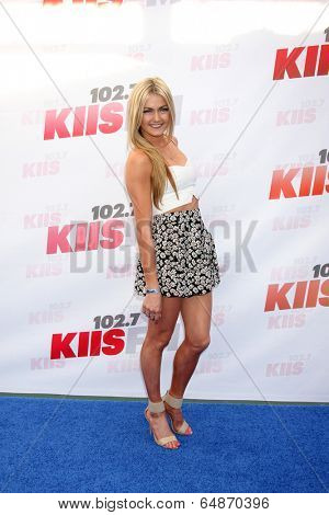 LOS ANGELES - MAY 10:  Lindsay Arnold at the 2014 Wango Tango at Stub Hub Center on May 10, 2014 in Carson, CA
