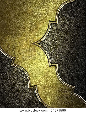 Gold Background With Scuffed, With Cutouts, Gold Trim