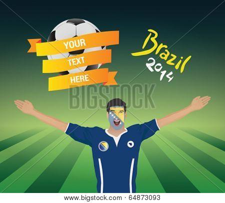 Bosnian football fan