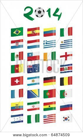 flags vector with 2014 text