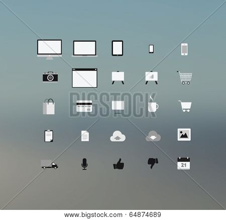 Digitally generated computing technolgy and application icons