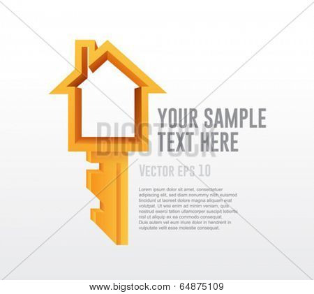 Homeowner vector with space for text and key