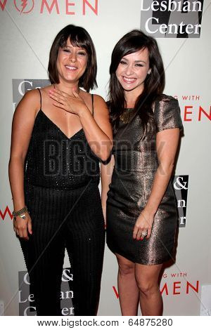 LOS ANGELES - MAY 10:  Kimberly McCullough, Danielle Harris at the L.A. Gay & Lesbian Center's