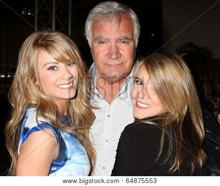 LOS ANGELES - MAY 6:  Kim Matula, John McCook, Linsey Godfrey at the Bold & Beautiful Celebrates Emmy Nominations at CBS Television City on May 6, 2014 in Los Angeles, CA