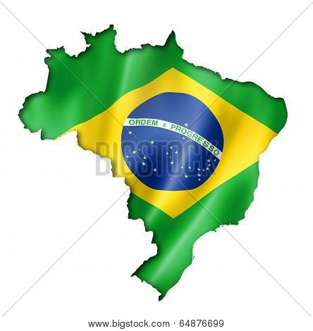 Brazilian Flag Map
