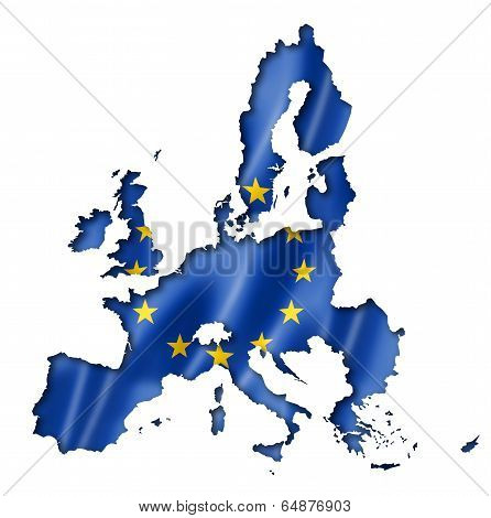 European Union Flag Map