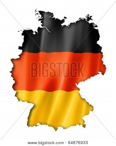 German Flag Map