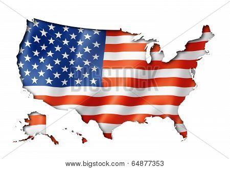United States Flag Map