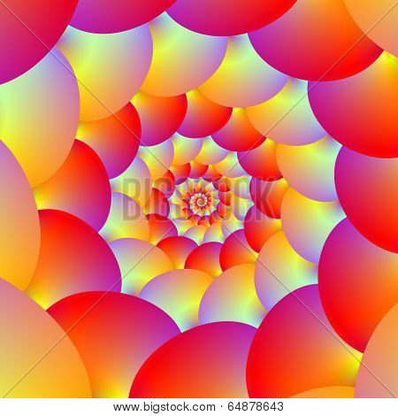 Ball Spiral In Red Yellow And Orange