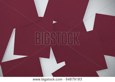 Wine paper strewn over grid paper