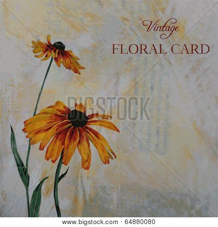painting floral card
