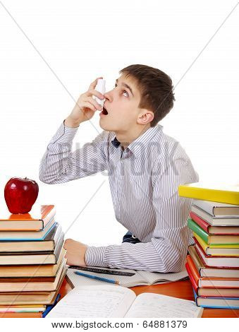 Student With Inhaler