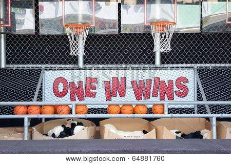 Beachside Basketball Game