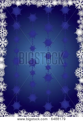 Blue snowcapped background