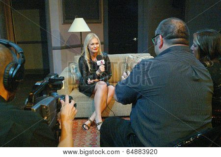 HOLLYWOOD, MAY 6:  Angeline Rose Troy arrives for the post play interview with