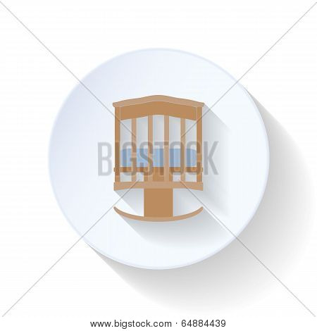 Cot flat icon