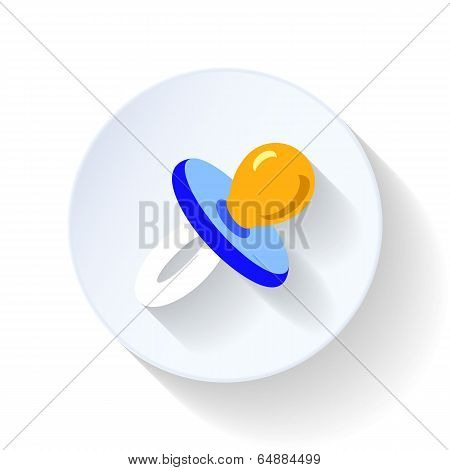 Soother flat icon