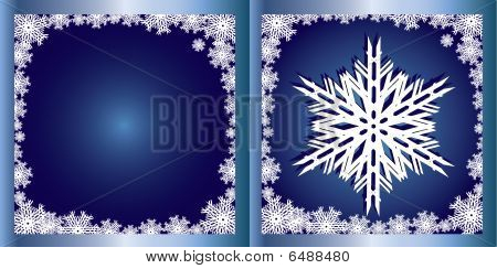 Blue Greetings card Snowflake