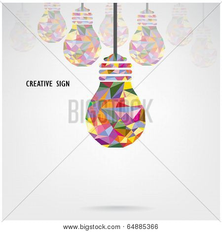 Creative Light Bulb Concept Background ,business Idea ,abstract Background.