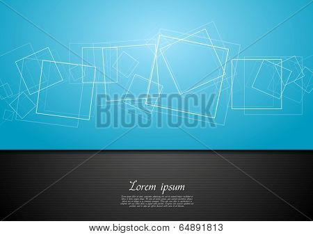 Abstract contrast blue and black background