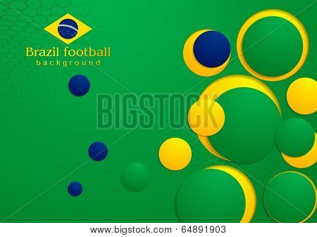 Abstract vector background in Brazilian colors