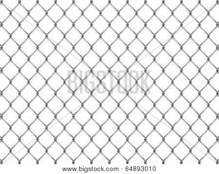 Fence From Silver Mesh