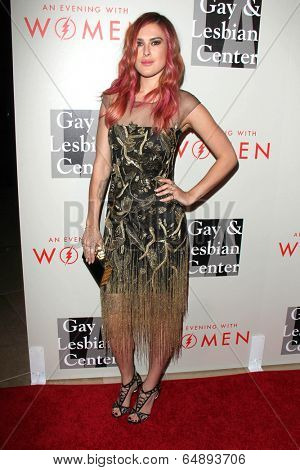 LOS ANGELES - MAY 10:  Rumer WIllis at the L.A. Gay & Lesbian Center's