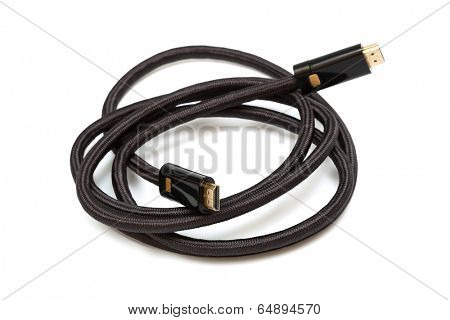 cable hdmi on a white background
