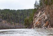 picture of ural mountains  - Beautiful Ural nature on the river Inzer South Ural region Russia - JPG
