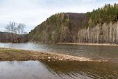 foto of ural mountains  - Beautiful Ural nature on the river Inzer South Ural region Russia - JPG