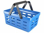 foto of movable  - 3d plastic shopping basket isolated on a white background - JPG