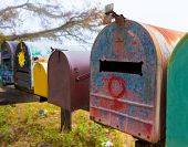 picture of mailbox  - California grunge mailboxes along Pacific Highway Route 1 US 101 USA - JPG